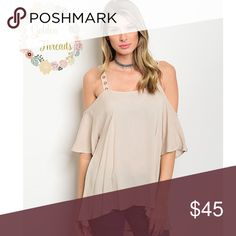 💥COMING 1/4/17!!!! 💥  Nude Cold Shoulder Top Chic Nude Cold Shoulder Top Sizes : S  M  L Tops Blouses