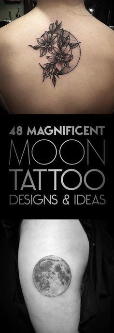 48 Magnificent Moon Tattoo Designs & Ideas   TattooBlend