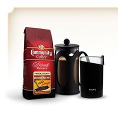 Give dad a new way of brewing his favorite #CommunityCoffee blend with this French Press set, including our Kenya Bodum 8 cup (32 oz) press, a Krups Blade Grinder and our 12 oz Private Reserve House Blend #FathersDay