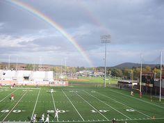 Rainbow over field at SUNY Cortland (NY)