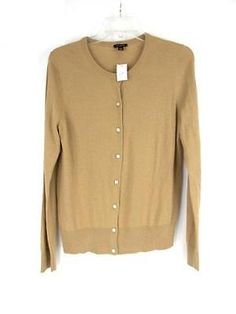 ANA A New Approach Heather Brown Bronze Sequin Sweater Scoop Neck ...
