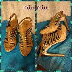 "Sexy, beautiful miumiu 5"" heels In awesome condition! Make an offer! Miu Miu Shoes Heels"