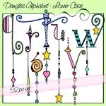 ♥♥ ~ Dangles Alphabet, Lower Case q r s t u v w by Olivia and company. ~