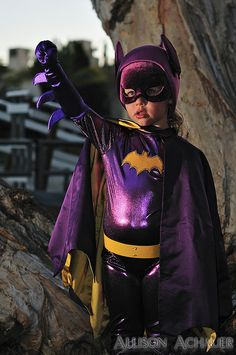 Batgirl costume by Allison Achauer via Flickr - adorable! : bat girl costume for kids  - Germanpascual.Com