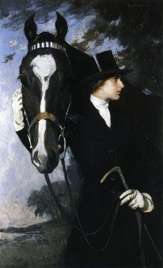 "Equestrian art by Edmund Charles Tarbell - ""Mary and New Castle Poppy"" - 1926 - Baltimore Museum of Art Drawings, Art Painting, Equestrian Art, Equine Art, Art Museum, Art History, Animal Art, Art, Artist"