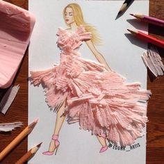 Creative Fashion design Illustration by Armenian artist Edgar Amazing Drawings, Amazing Art, Art Drawings, Kleidung Design, Arte Fashion, Fashion Fashion, Illustration Mode, Fashion Design Drawings, Fashion Sketches