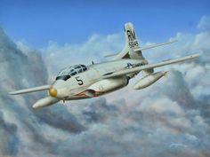 Douglas Skyknight Don Military Jets, Military Aircraft, Fighter Aircraft, Fighter Jets, Douglas Aircraft, Airplane Art, Us Marines, Aviation Art, Illustrations Posters