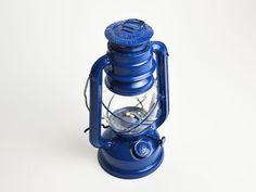 Vintage Chinese Paraffin Lantern / Lamp, Royal Blue