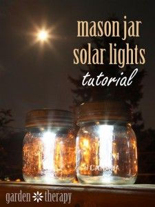 Mason Jar Solar Lights with @garden_therapy on @BonbonBreak
