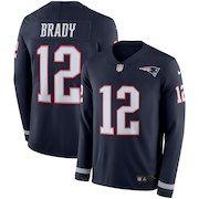 Men s New England Patriots Tom Brady Nike Navy Therma Long Sleeve Jersey c691661a9