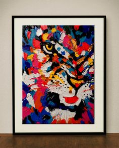 Fine Art Original Acrylic Abstract Painting  Lion's by mjoyshop, $58.00