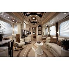 RVs and travel trailers are the epitome of compact living but what they sometimes aren't the epitome of, is stylish decor. If you're tired of your boring motorhome interior, here's some RV decorating ideas to help you turn it from drab to fab! Interior Motorhome, Trailer Interior, Rv Interior, Interior Design, Motorhome Living, Interior Ideas, Modern Interior, Motorhome Travels, Simple Interior