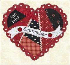 Quilted calendar blocks September