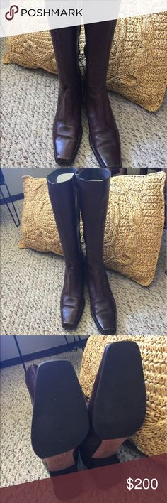 Chocolate Brown Soft Leather European Boots. This Boots are beautiful!! Shoes Heeled Boots