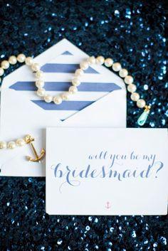 Kate Spade Inspired Polka Dot 'Will You Be My Bridesmaid? Customized Gift Box  Photo by @hopetaylorr