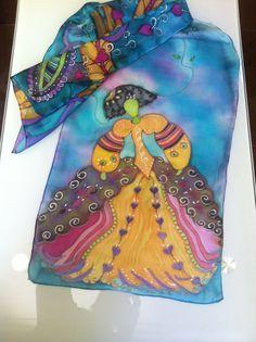"""Silk. Pintado a mano. Colección """"las Meninas"""""""