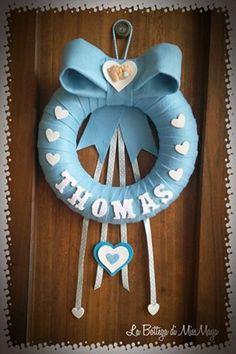 Fiocco nascita ghirlanda bimbo/bimba personalizzabile Diy Crafts For Gifts, Baby Crafts, Handmade Crafts, Crafts For Kids, Welcome Home Baby, Welcome Baby Girls, Baby Girl Names, Baby Boy Rooms, Diy Baby Shower Decorations