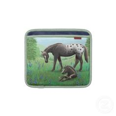 Appaloosa Mare with Foal iPad/iPad 2/Macbook Air Sleeve