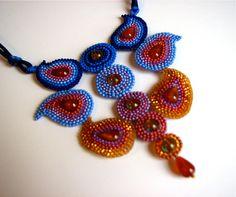Jewel of the Silk Road necklace - Circular Brick Stitch Beadwork