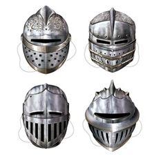 Knight masks for Ava's Royal Birthday Party