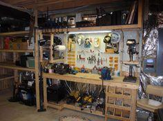 well organized garage workshop