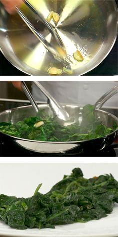 Make delicious Sauteed Spinach like a pro. It's easy. Recipe, plus full video & 100s more, FREE with your 14-day no-obligation trial membership at www.WolfgangPuckCookingSchool.com