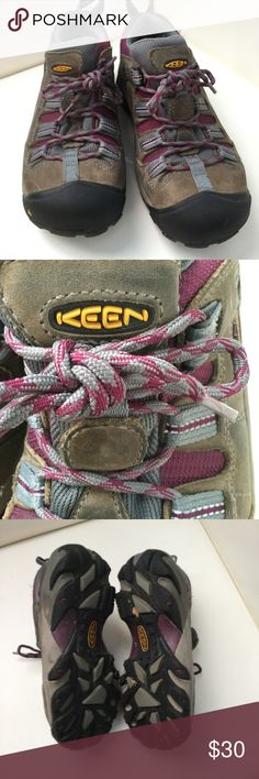 KEEN Hikers Hikers, leather on partial of the upper. Keen Shoes Athletic Shoes