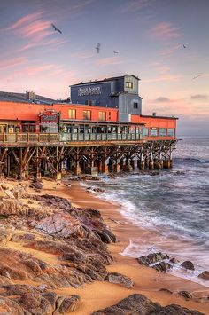 Fish Hopper With Gulls - Cannery Row - Monterey, CA