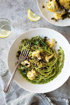 Cauliflower, Spaghetti, Healthy Eating, Rice, Pasta, Ethnic Recipes, Food, Couscous, Vegetarische Rezepte