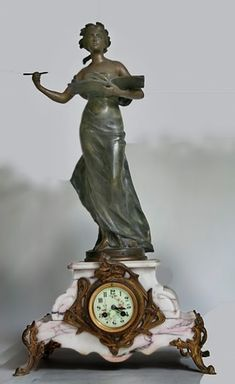 www.veniceclayartists.com wp-content uploads 2011 08 EJ-Ainger-Auction-Rooms19th-century-French-white-marble-three-piece-clock.jpg