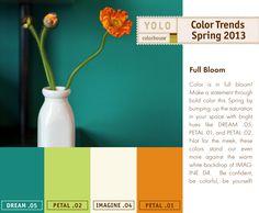Spring 2013 Color Trends - Full Bloom
