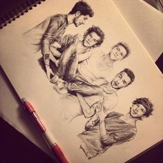 Find images and videos about art, one direction and niall horan on We Heart It - the app to get lost in what you love. One Direction Fan Art, One Direction Drawings, One Direction Wallpaper, One Direction Humor, One Direction Imagines, One Direction Pictures, Lyric Drawings, Direction Quotes, 1d Imagines