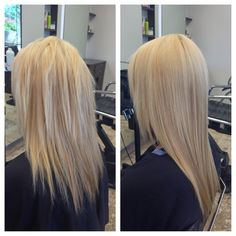 Before and after of a keratin treatment. Hair by Jayma Brazilian Blowout, Hair Restoration, Smooth Hair, Keratin, Hair Smoothing, Blowout Hair, Hair Straightening, Cosmetics, Long Hair Styles