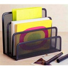 3 Section Desktop Office Tray Sorter Desk Mesh Holder Documents File Letter | eBay