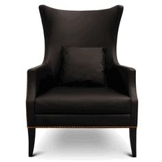 Custom Made To Order Design: The Dukono in Black Leather * 29 x 35 x 43 inches * Request A Quote