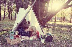 fall camping shoot