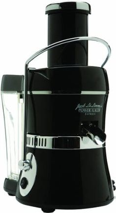 Jack LaLanne's Power Juicer Express .............  Fast, healthy, fresh juice in seconds. With the brand-new streamlined compact style, Jack LaLanne's Power Juicer Express is appealing while being practical producing as much as 30-percent more juice then other juicers. Non-drip spout Special trademarked extraction innovation Extra-large round feeder accommodates most vegetables and fruits Whisper-quiet 3600 RPM motor Surgical-quality stainless-steel blade