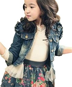 denim jacket with lace trim