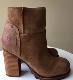 4e8435bf5875cf  160 NEW Sam Edelman Franklin Leather Ankle Boots - 8  SamEdelman   AnkleBoots  Casual