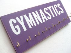 Gymnastics  Gymnastics Medals Display Rack by runningonthewall