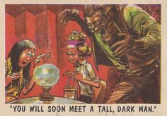 """You'll Die Laughing"" Topps trading cards 1959, illustrated by Jack Davis"