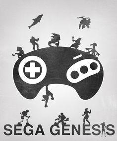 Posters de jogos minimalistas