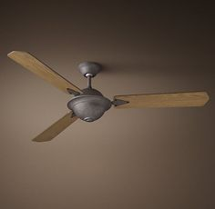 Atelier Ceiling Fan - Hammered Steel