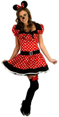 Miss/Missy/Mini Mouse Adult Fancy Dress Costume