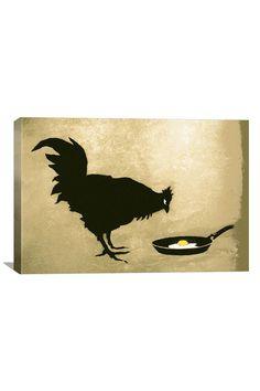 Banksy Chicken & Egg Canvas Print