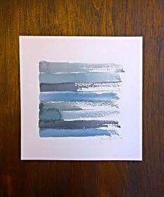 Blue Watercolor Abstract Painting ART PRINT door PortDevaDesigns, $15.00