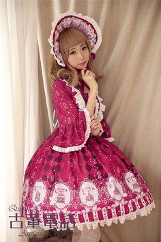 QuaintLass ~Antique Telephone~ Lolita OP Dress - My Lolita Dress
