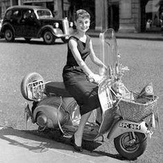Hepburn and vespa