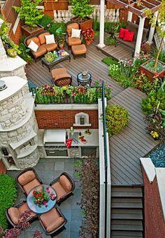 A Chicago resident creates a stunning outdoor rooftop retreat: http://www.midwestliving.com/garden/featured-gardens/garden-tour-small-yard-big-impact/