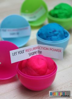 Play-Doh Plastic Easter Egg Filler - Great alternative to candy with a Christ-centered Message